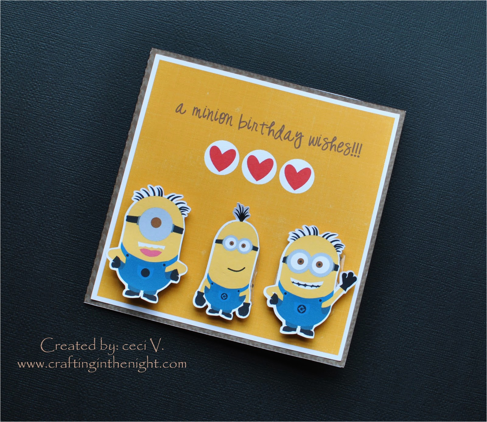 crafting in the night minion birthday card action wobbles