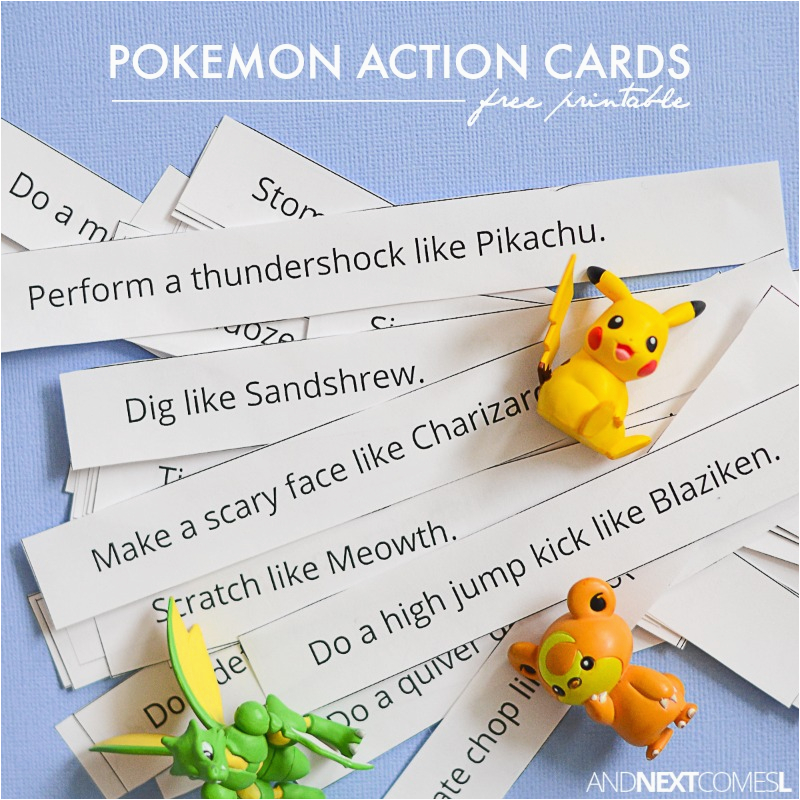 free printable pokemon action cards and next comes l