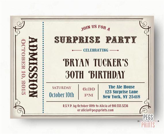 male surprise birthday invite surprise birthday