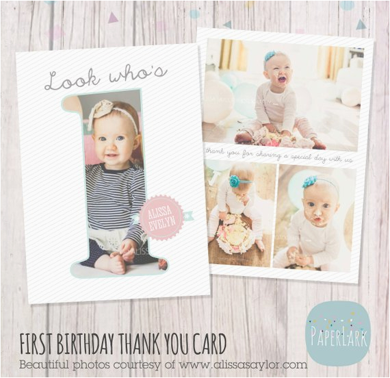 first birthday card photoshop template