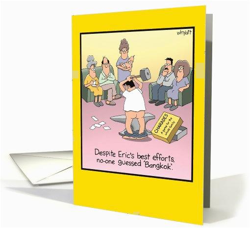 bangkokless humor birthday card 1090142