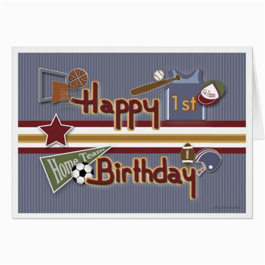 age specific all sports birthday card template zazzle co nz