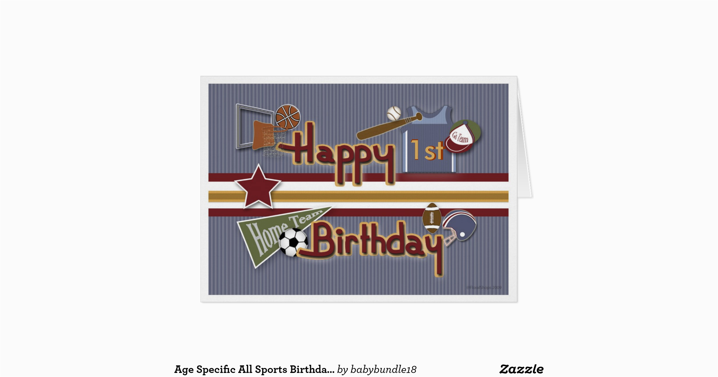 age specific all sports birthday card template zazzle