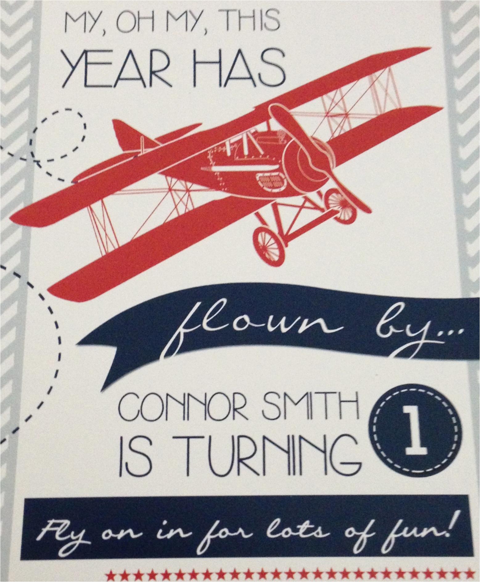 Airplane 1st Birthday Invitations Airplane 1st Birthday Party Project Nursery