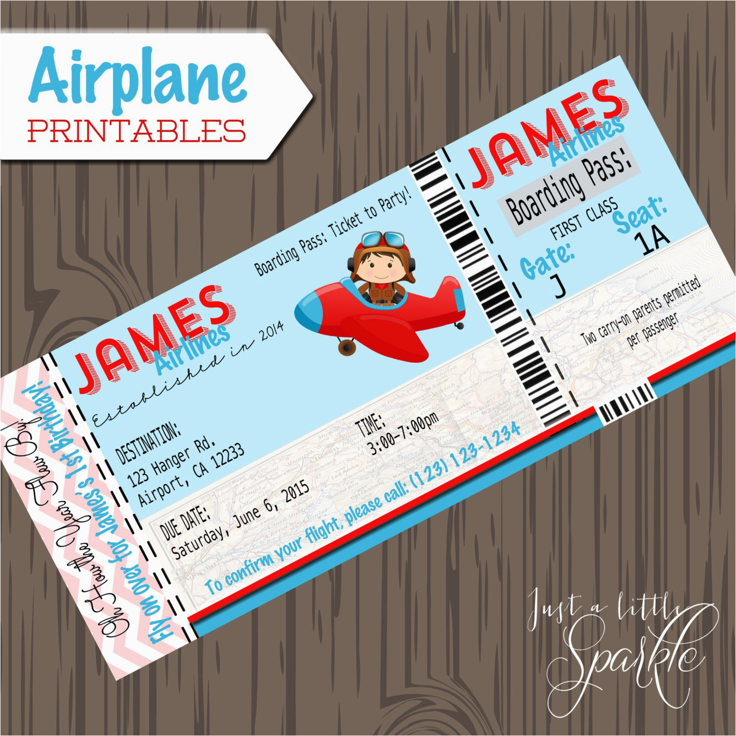 pilot invitations cards diy lil pilots