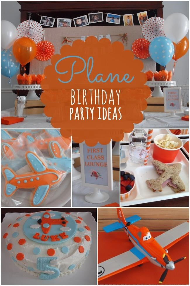 boys plane themed birthday party