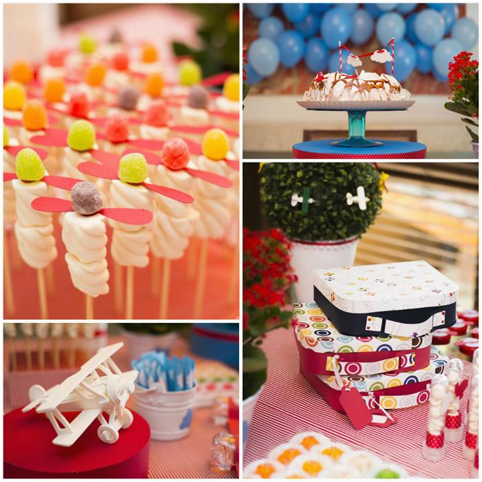 airplane themed 1st birthday party