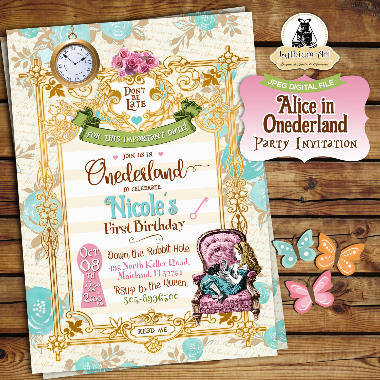 alice in onederland invitation alice in