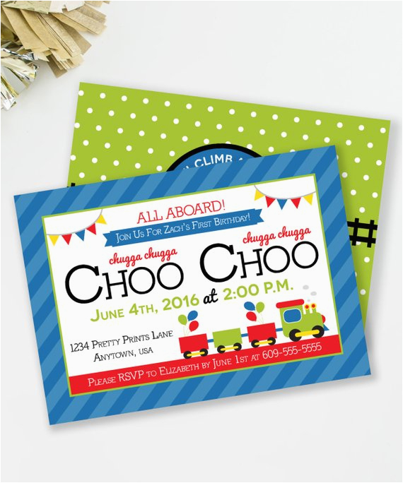 choo choo train birthday invitation all 2