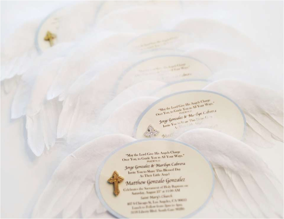 Angel themed Birthday Party Invitations Angel themed Baptism Baptism Quot Angel Baby Baptism