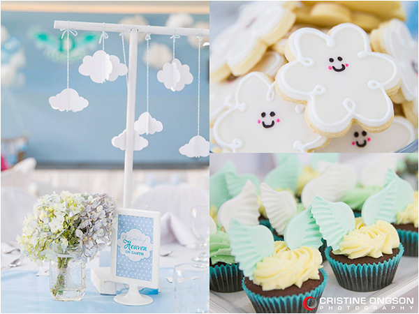 heaven and angel themed party