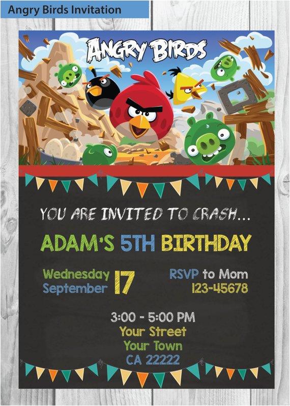 angry birds invitation angry birds