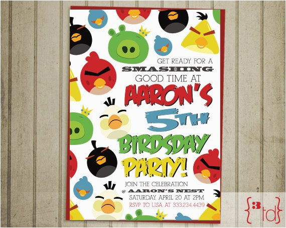 angry birds birthday invitation diy