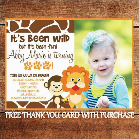 safari birthday invitations