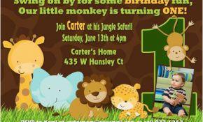 Animal 1st Birthday Invitations