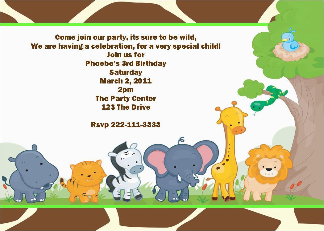 animal party invitations