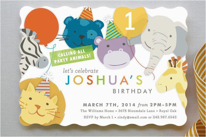 cute baby boy 1st birthday party invitations