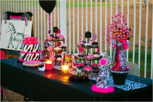 Animal Print Birthday Decorations This Sweet 16 Has Zebra Print Written All Over It B
