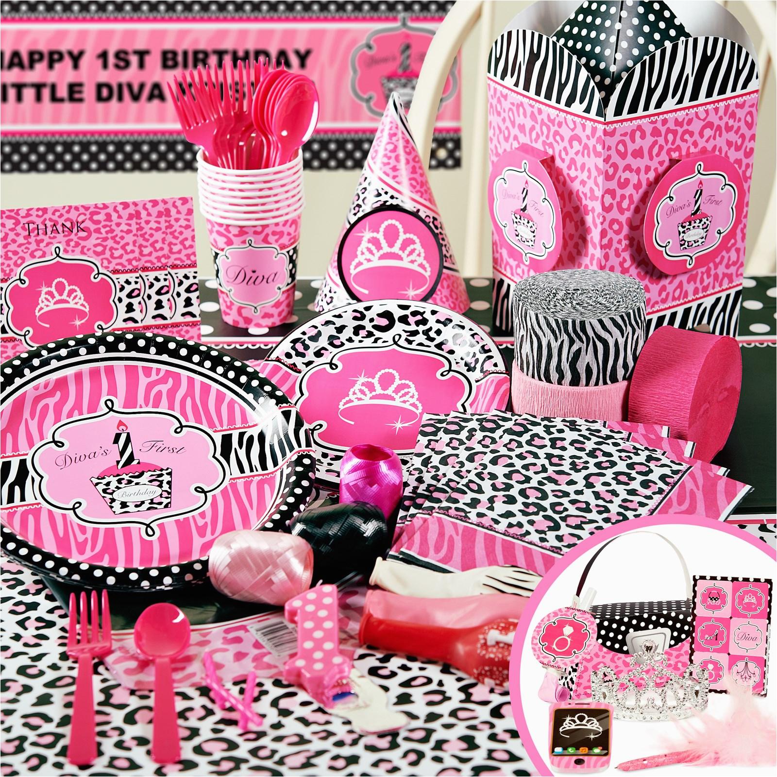 zebra print party supplies