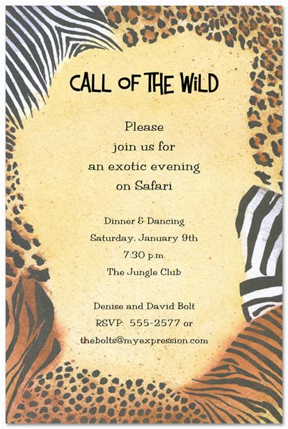 Animal Print Birthday Party Invitations 5 Best Images Of Animal Print Birthday Invitations