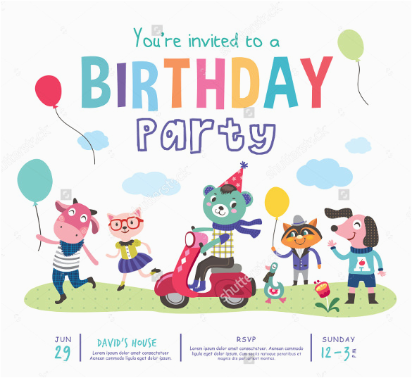 Animated Birthday Cards For Kids 39 Invitation Templates Psd Ai Free