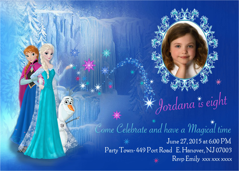 diy print frozen invitations frozen