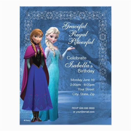 frozen anna and elsa snowflake birthday invitation 161956199142713095