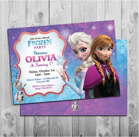 frozen birthday invitation printable frozen birthday
