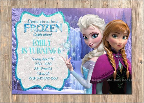 frozen birthday invitation elsa anna