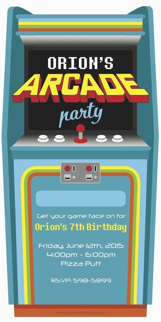 Arcade Birthday Invitations 25 Best Arcade Pac Man Birthday Party