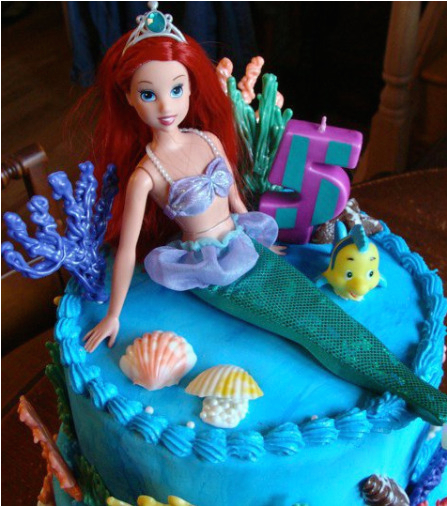 Ariel Birthday Cake Decorations Little Mermaid Party Ideas Little