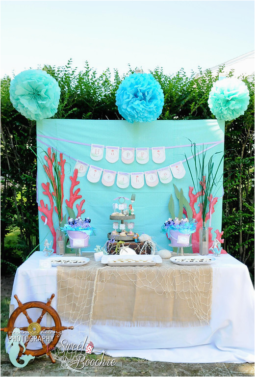 Little Mermaid Ariel Inspired 5th Birthday Party