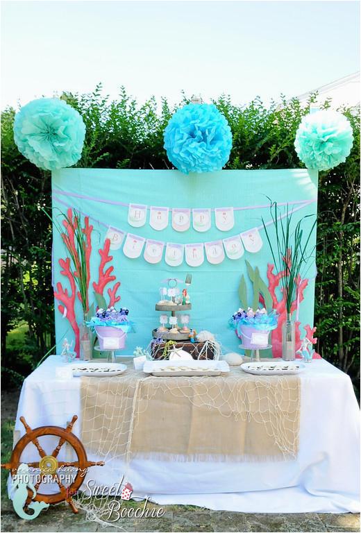 Ariel Birthday Party Decoration Ideas Birthdaybuzz