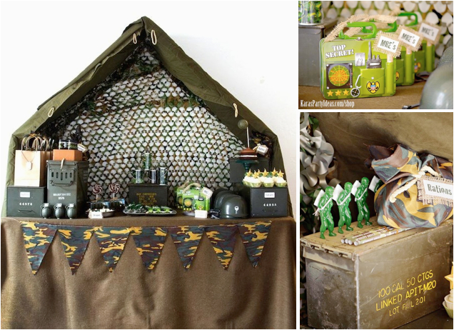 army camouflage themed birthday party karas party ideas shop