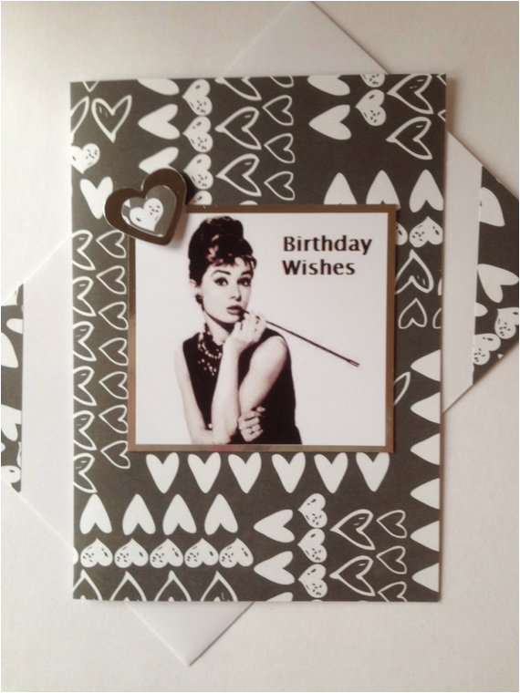 audrey hepburn birthday card famous british actress and