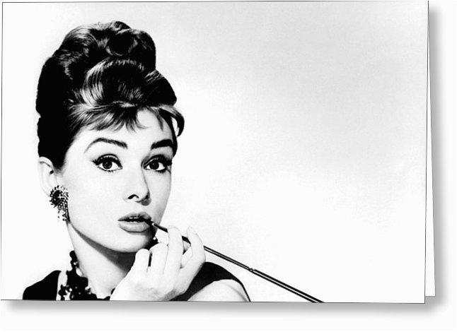 Audrey Hepburn Birthday Card Breakfast At Tiffanys Greeting Cards For Sale