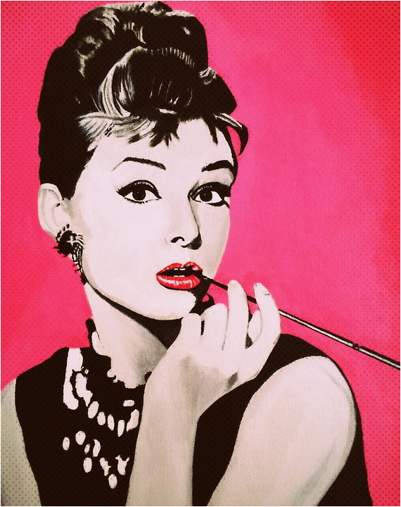 set of audrey hepburn birthday card pictures on tcs