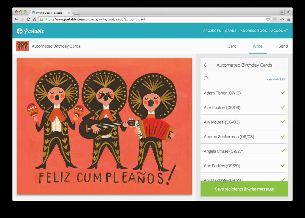 Automatic Birthday Card Sender How to Send Automated Birthday Cards with Postable