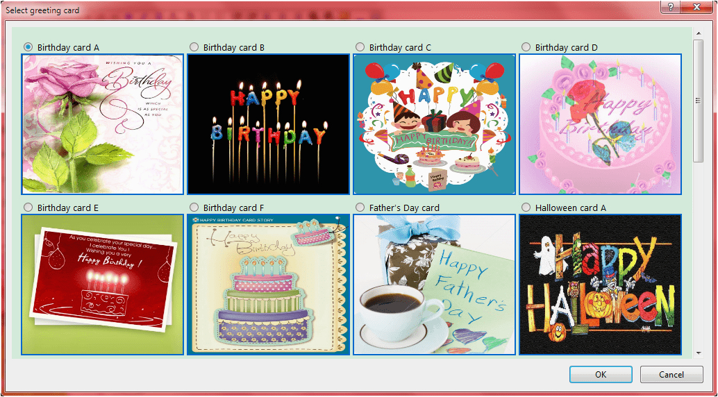 send automatic birthday and season 39 s greetings screenshots
