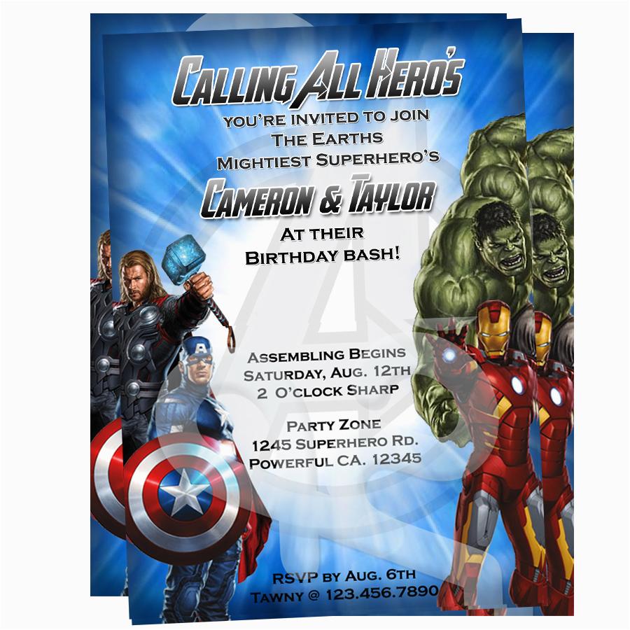avengers invitations