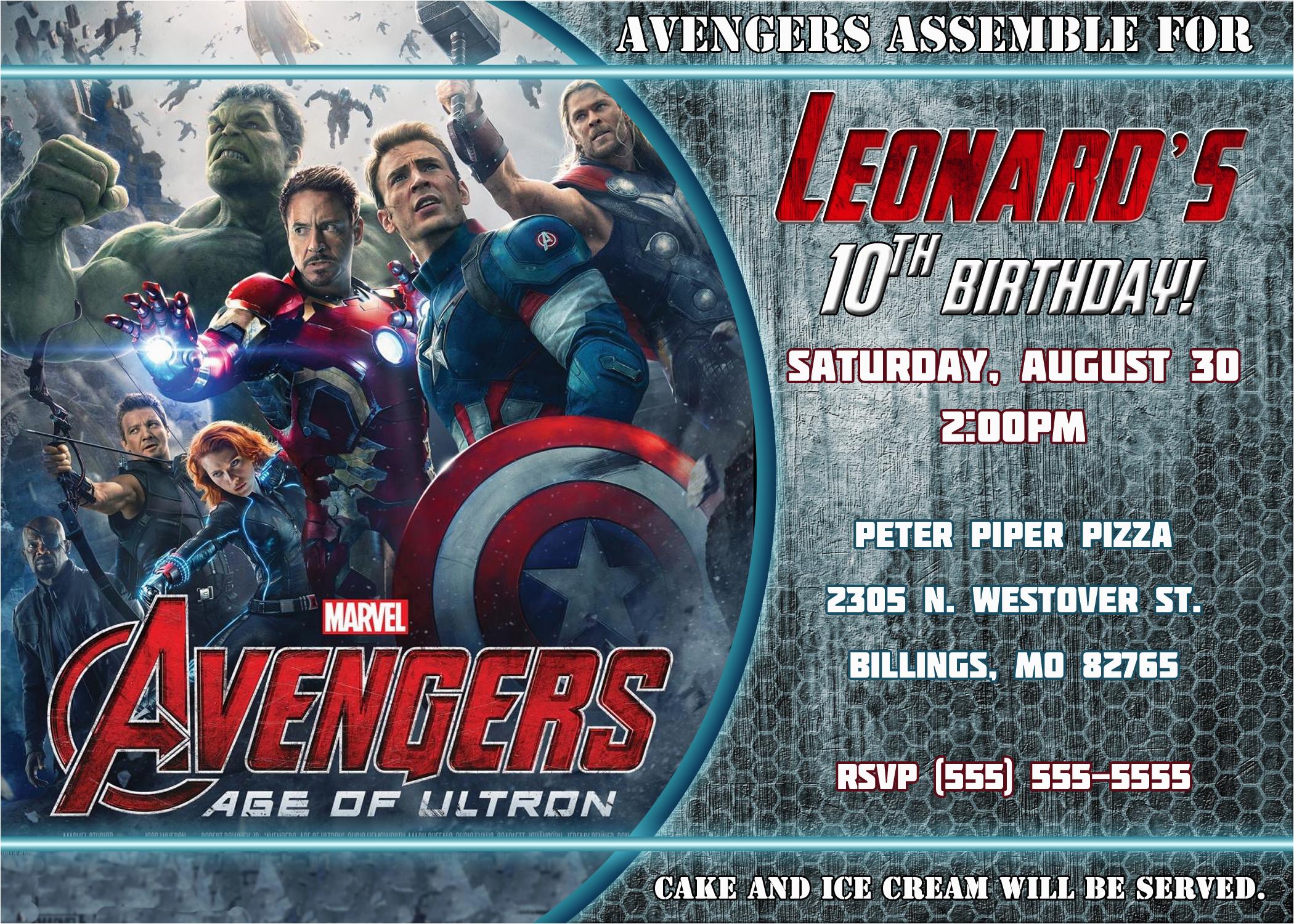 Avengers Birthday Invitation Templates Free Kustom Kreations