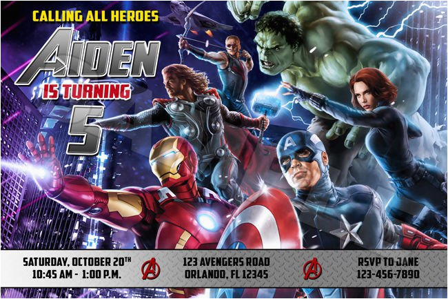 Avengers Birthday Invitation Templates Free Invitations