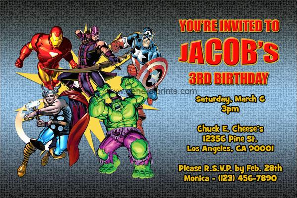 Avengers Birthday Invitation Templates Free Invitations Superhero Printable