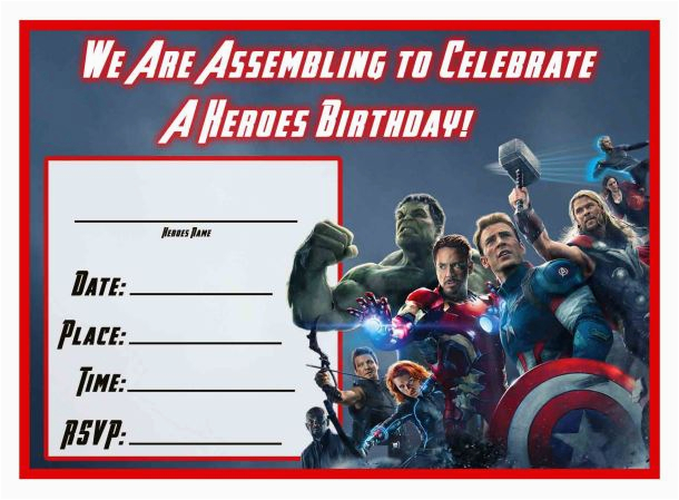 Avengers Birthday Invitation Templates Free Free Avengers Age Of Ultron Printable Party Decoration