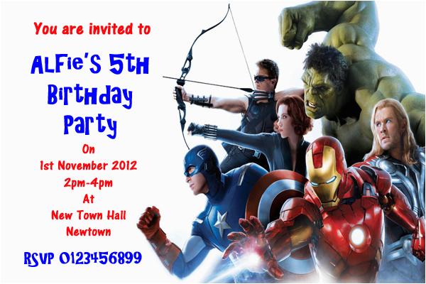 Avengers Birthday Invitation Templates Free Party Invitations