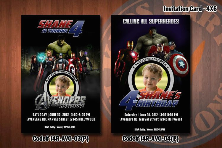 Avengers Birthday Invitations Custom Personalized Party Invitation 4x6 With