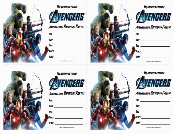 avengers birthday invitations