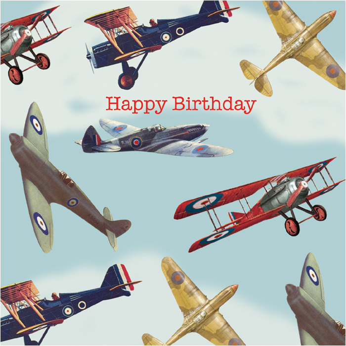 airplane happy birthday card