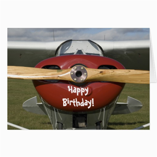 airplane pilot happy birthday card 137189464272536977