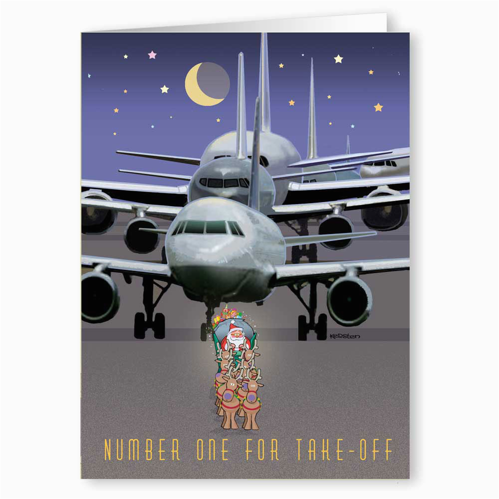 Aviation Birthday Cards Santa 39 S Airplane Greeting Cards Airplane Holiday Cards